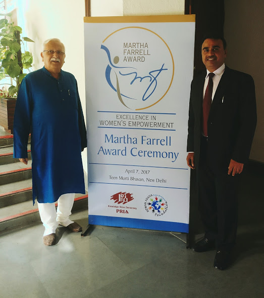 Dr Rajesh Tandon and Mr Rizwan Adatia at the ceremony